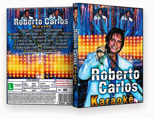CAPA DVD – ROBERTO CARLOS KARAOKÊ 2018 DVD-R