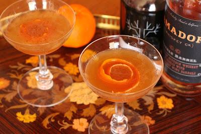 cocktail bourbon erable abricot