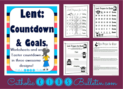 Lent Traditions, Goal Setting and Countdown, Teacher Pay Teachers, Catholic Kids Bulletin