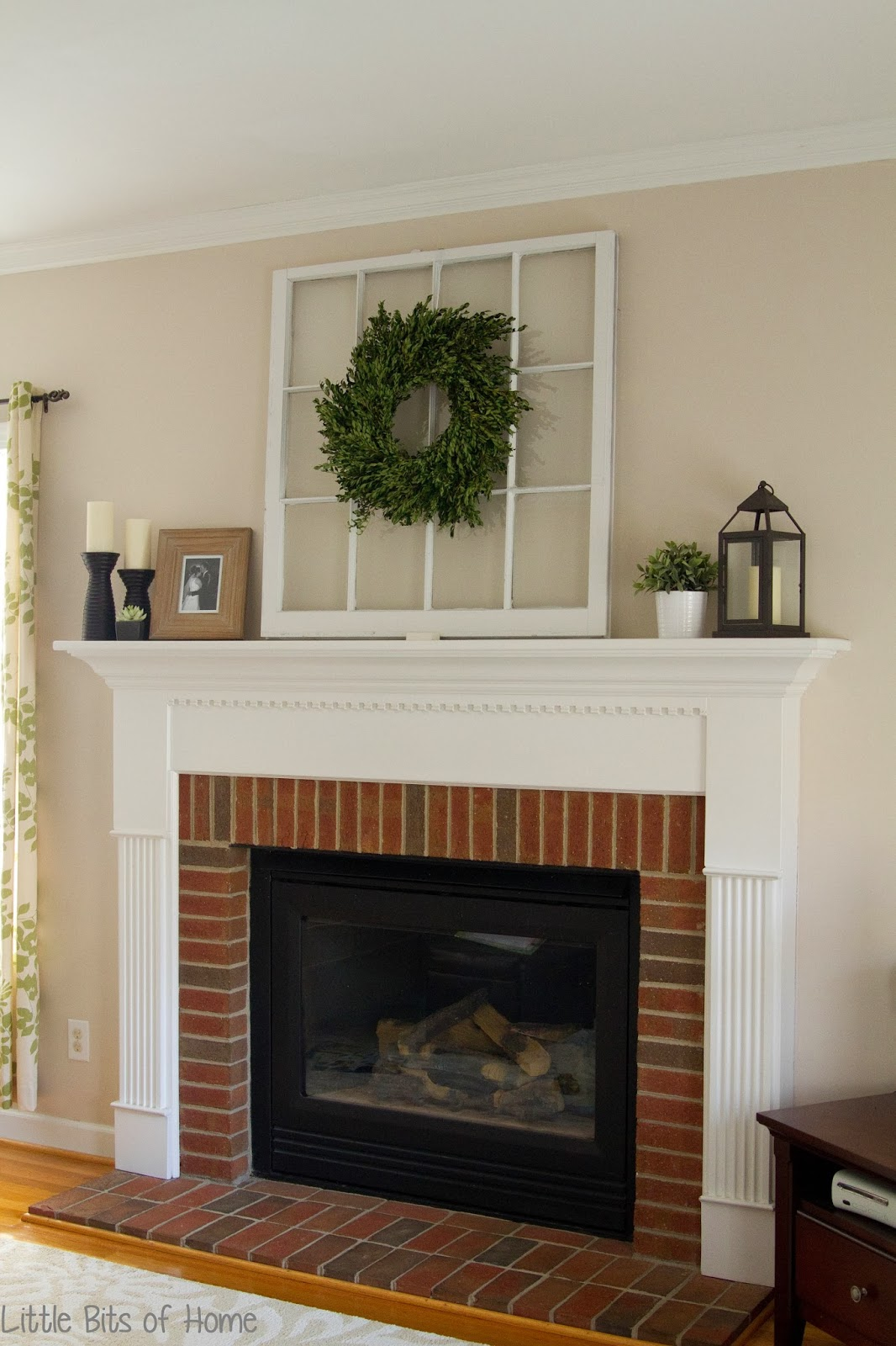Little bits of home everyday fireplace decor - Fireplace mantel decor ideas ...