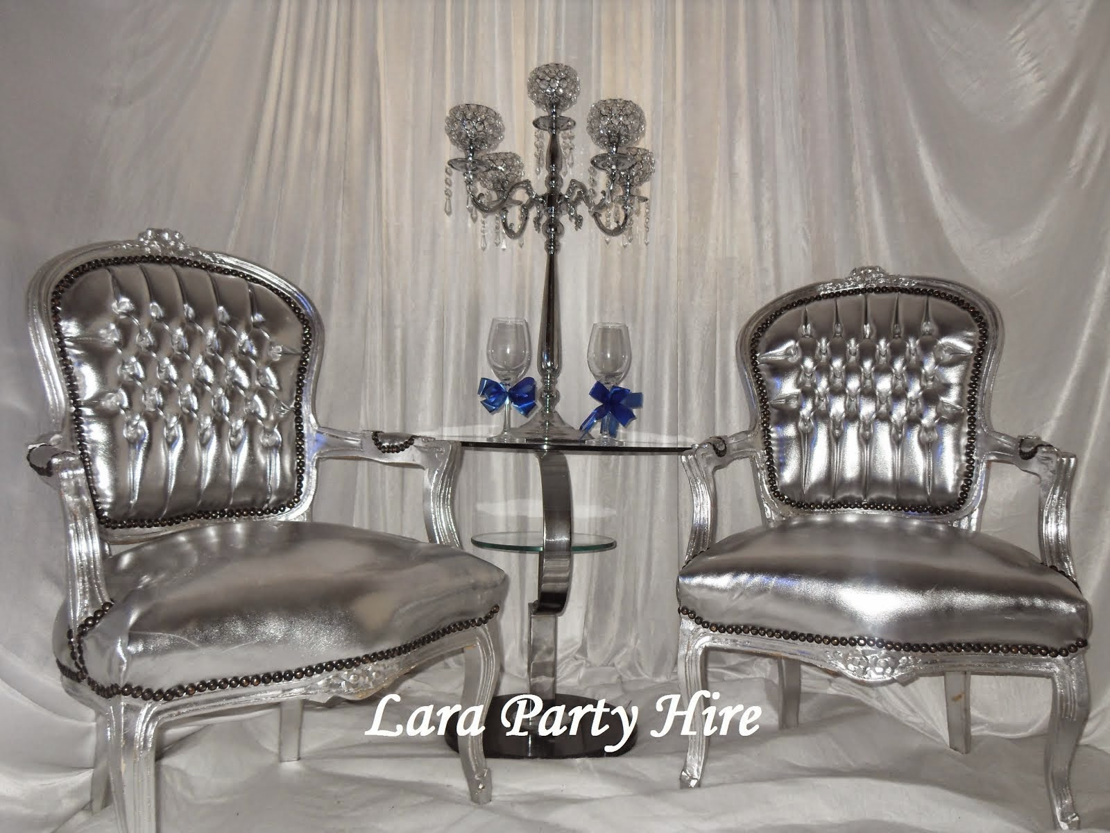 Silver Wedding Chairs €50.
