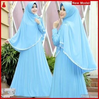 FHGS9104 Model Syari Ummi Biru, Muslim Muda Pakaian Perempuan BMG