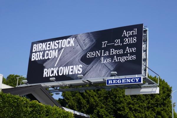 Birkenstock Box Rick Owens billboard