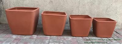 unbreakable square plastic pots