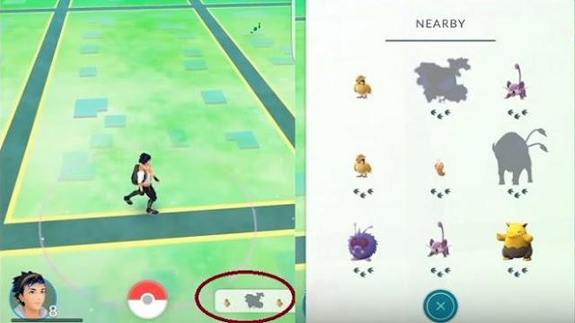 Cara Mengetahui Jarak Pokemon Terdekat dengan Membaca Nearby, Cara Membaca Radar Nearby Pokemon GO, Cara Mengetahui Pokemon Terdekat, Apa itu telapak kaki di nearby pokemon, cara membaca nearby untuk menemukan pokemon terdekat.