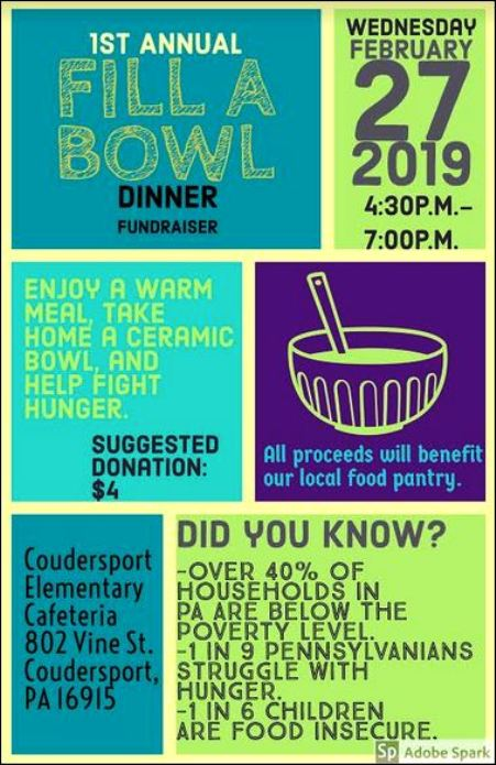 2-27 Fill A Bowl Dinner, Coudersport