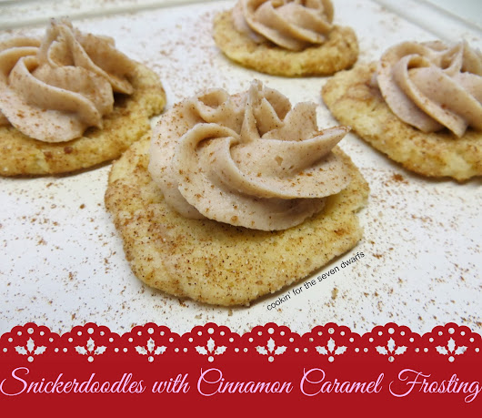 Snickerdoodles with Cinnamon Caramel Frosting | 12 Days of Bloggy Christmas