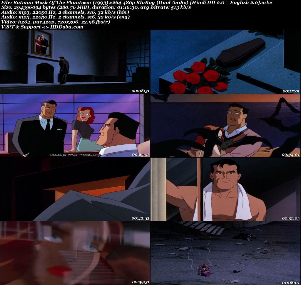 Batman Mask Of The Phantasm (1993) x264 480p BluRay [Hindi + English] Screenshot