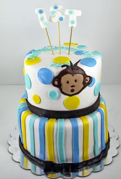 Tastefully Mod Monkey Cake