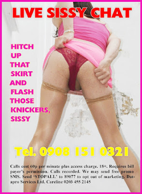 Sissies love flashing their cute pink knickers