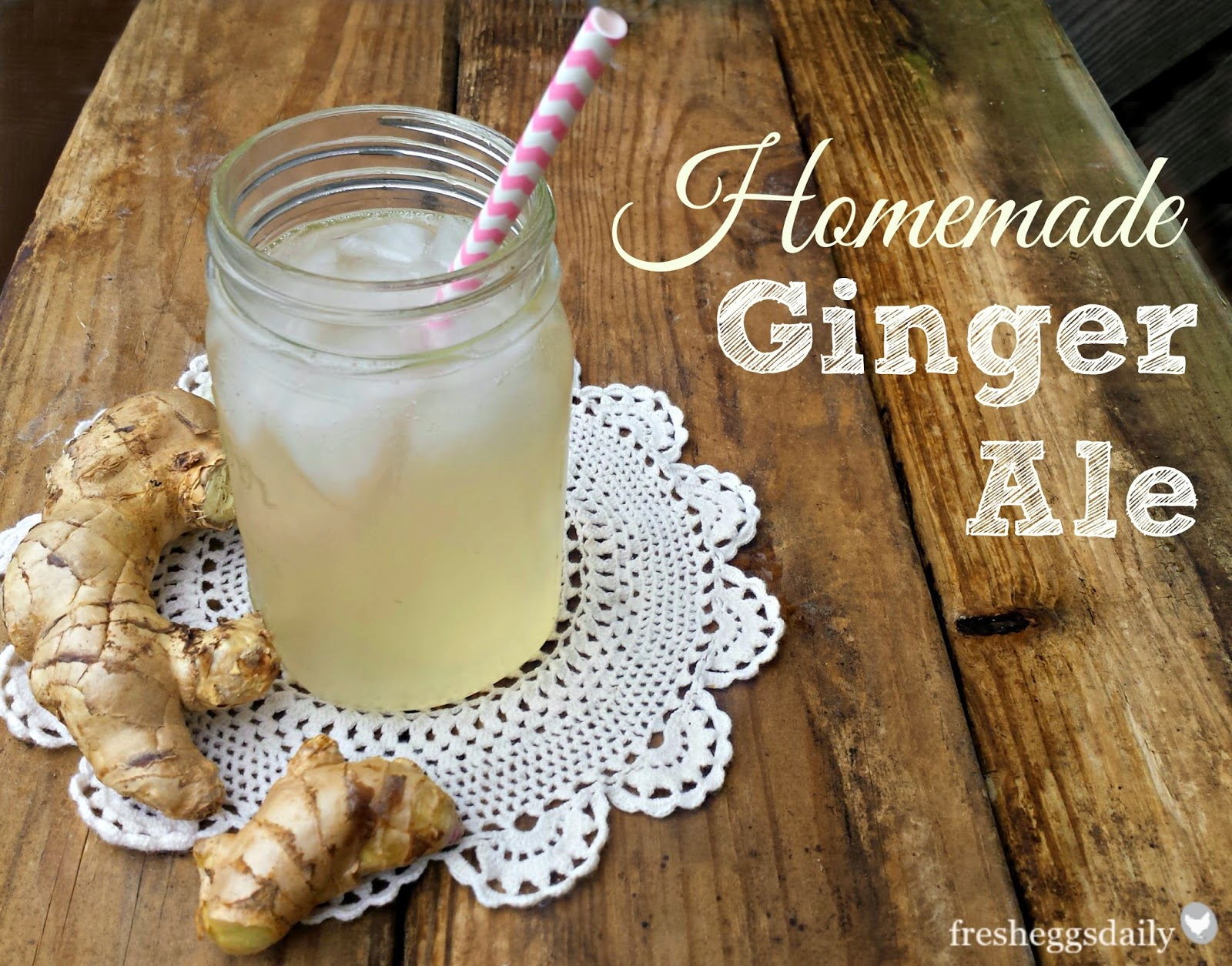 ginger ale in mason jar