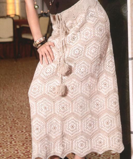 Patrón #1381:  Falda a Crochet