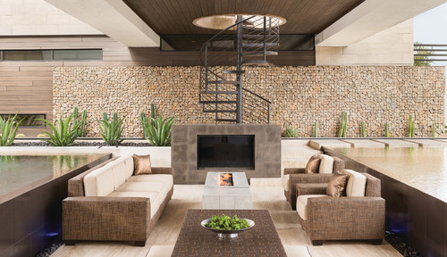 American Transitional Patio