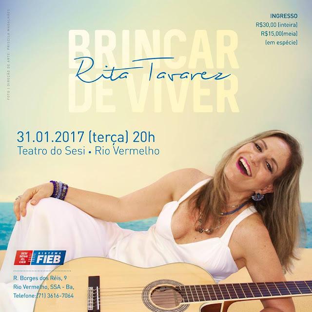 Rita Tavares se apresenta no Sesi-Rio Vermelho