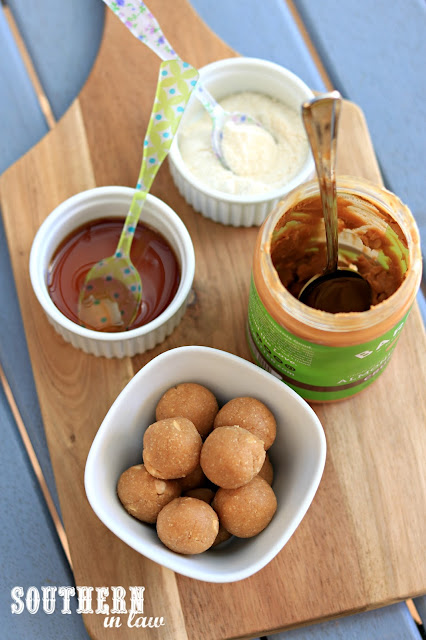 Three Ingredient Date Free Caramel Bliss Balls Recipe - one bowl, gluten free, vegan, paleo, peanut free, sugar free, healthy