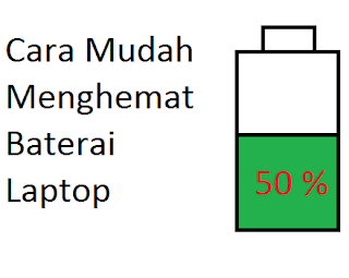 tips mudah menghemat baterai laptop