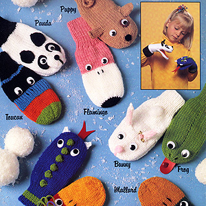Knitting Pattern For Puppet Mittens : Miss Julias Patterns: Free Patterns - 40 Puppets to Knit ...