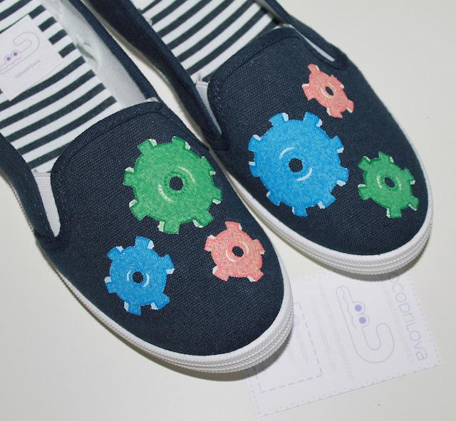 zapatillas pintadas papa e hijo a juego