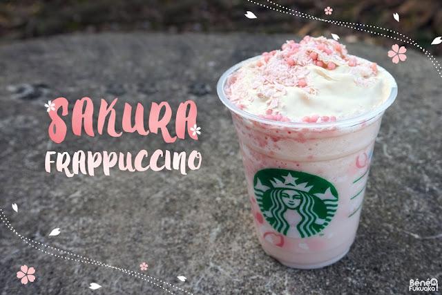 SAKURA Blossom Cream Frappuccino with crispy swirl, Starbucks