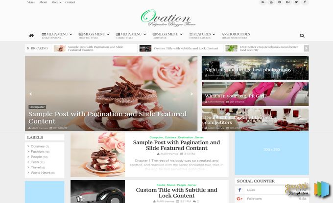 Axact | Ovation | MagOne | sevida | Latest ThemeForest Blogger Templates Free Download