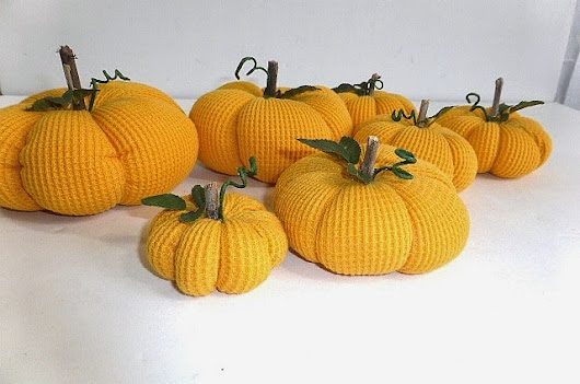 Fabric Pumpkins from Child's T-Shirt