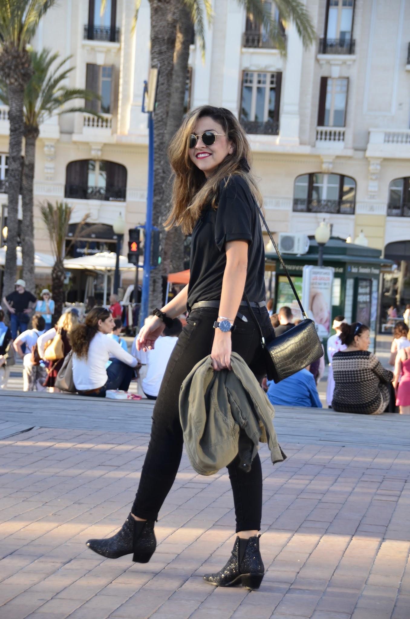 army jacket streetsyle blogger moda tarasessence