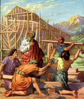 12. Noah and His Sons Build the Ark