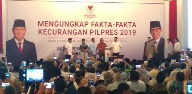 BPN Prabowo-Sandi Buka Data Kecurangan Supaya Publik Melek