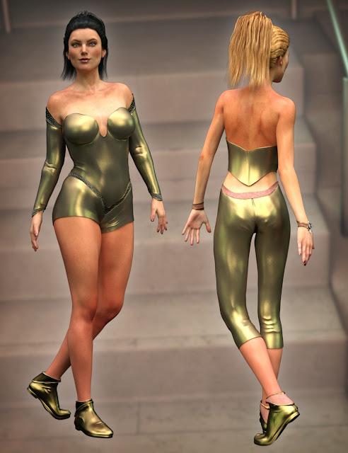 The CallaSuit for Genesis 3 Female and Genesis 2 Female