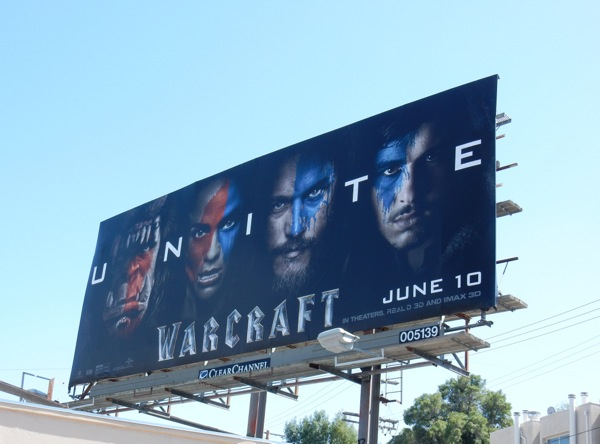 Warcraft Unite teaser movie billboard