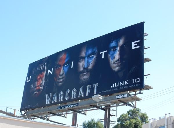 Warcraft Unite teaser movie billboard