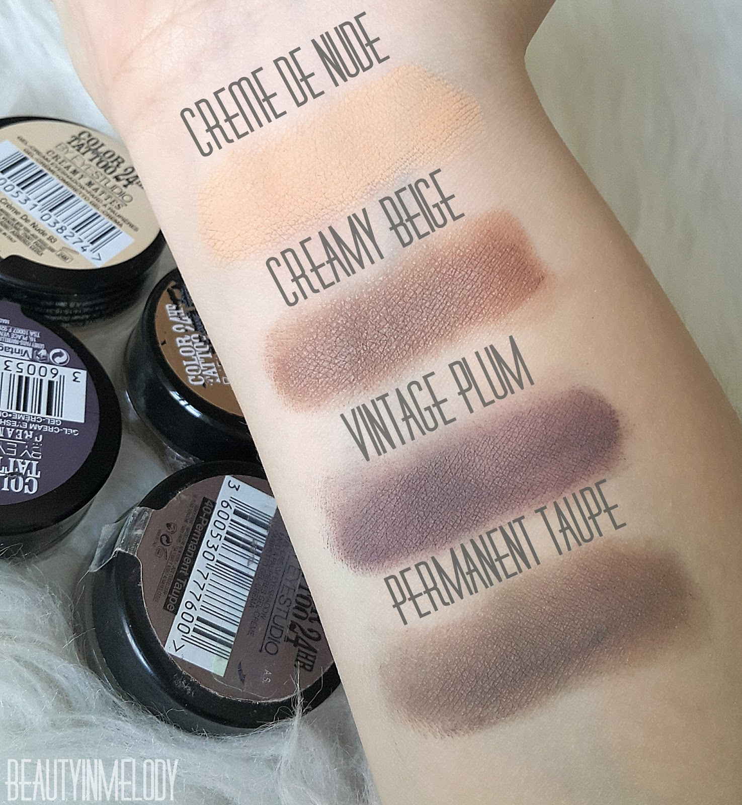 Beauty in melody maybelline 24hr color tattoo creamy for Color tattoo maybelline