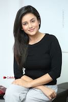 Telugu Actress Mishti Chakraborty Latest Pos in Black Top at Smile Pictures Production No 1 Movie Opening  0161.JPG