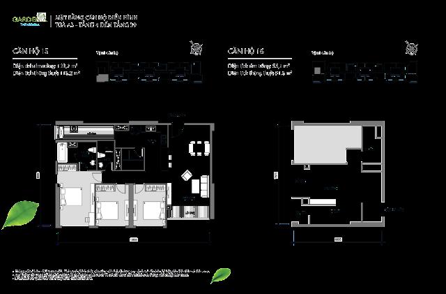 căn 15, 16 từ tầng 4 đến tầng 39 tòa A3 The Arcadia Vinhomes Gardenia