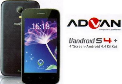 Spesifikasi dan Harga HP Advan Vandroid S4