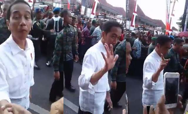 "Beredar Video Presiden Jokowi Langsung ""Ngacir"" Saat Ditanya Warga Tentang TDL Yang Mencekik"