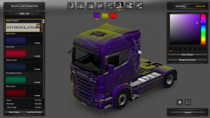 Highline Metallic Skin for Scania RJL