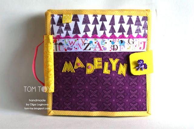Handmade quiet book for Madelyn, felt activity busy book for toddlers