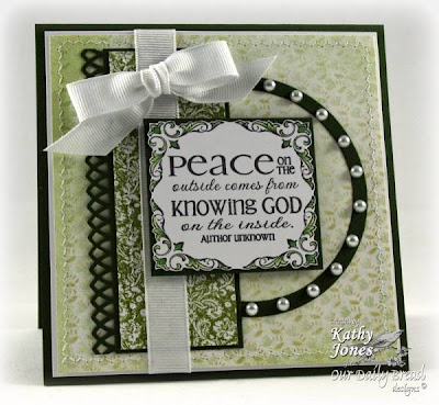 "Our Daily Bread designs ""Brocade Background"" ""Brocade Borders"" ""Brocade Border Die Set"" ""Peace - the Full of Grace Collection"" Designer Kathy Jones"