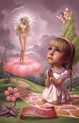 St. Barbie-oil on canvas by Mark Ryden.
