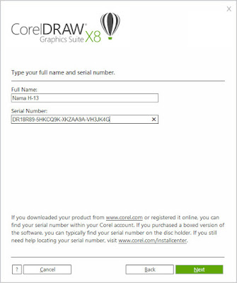 Corel draw x8 serial number
