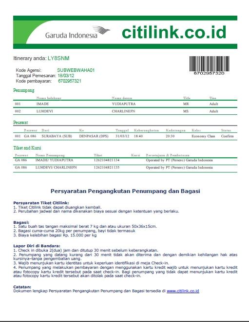 Pelangi Nusantara Tour &Travel - ticketing domestik