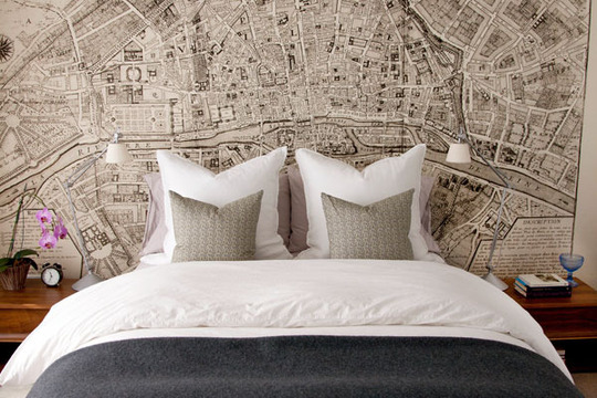 Ideas For Bedrooms: Old Paris Map