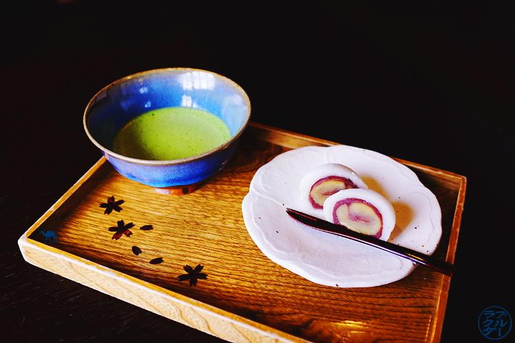 Le Chameau Bleu - Voyage au Japon dans le Tohoku - Kakunodate - Matcha et Moche a la châtaigne
