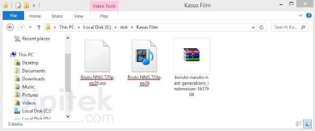 Menampilkan Subtitle Film di Laptop