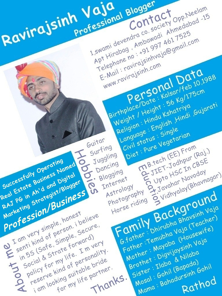 the rajput guy  rajput boy marriage biodata format