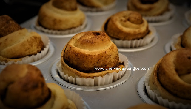 CINNAMON ROLL toppingan CREAM CHEESE sederhana, vindex tengker