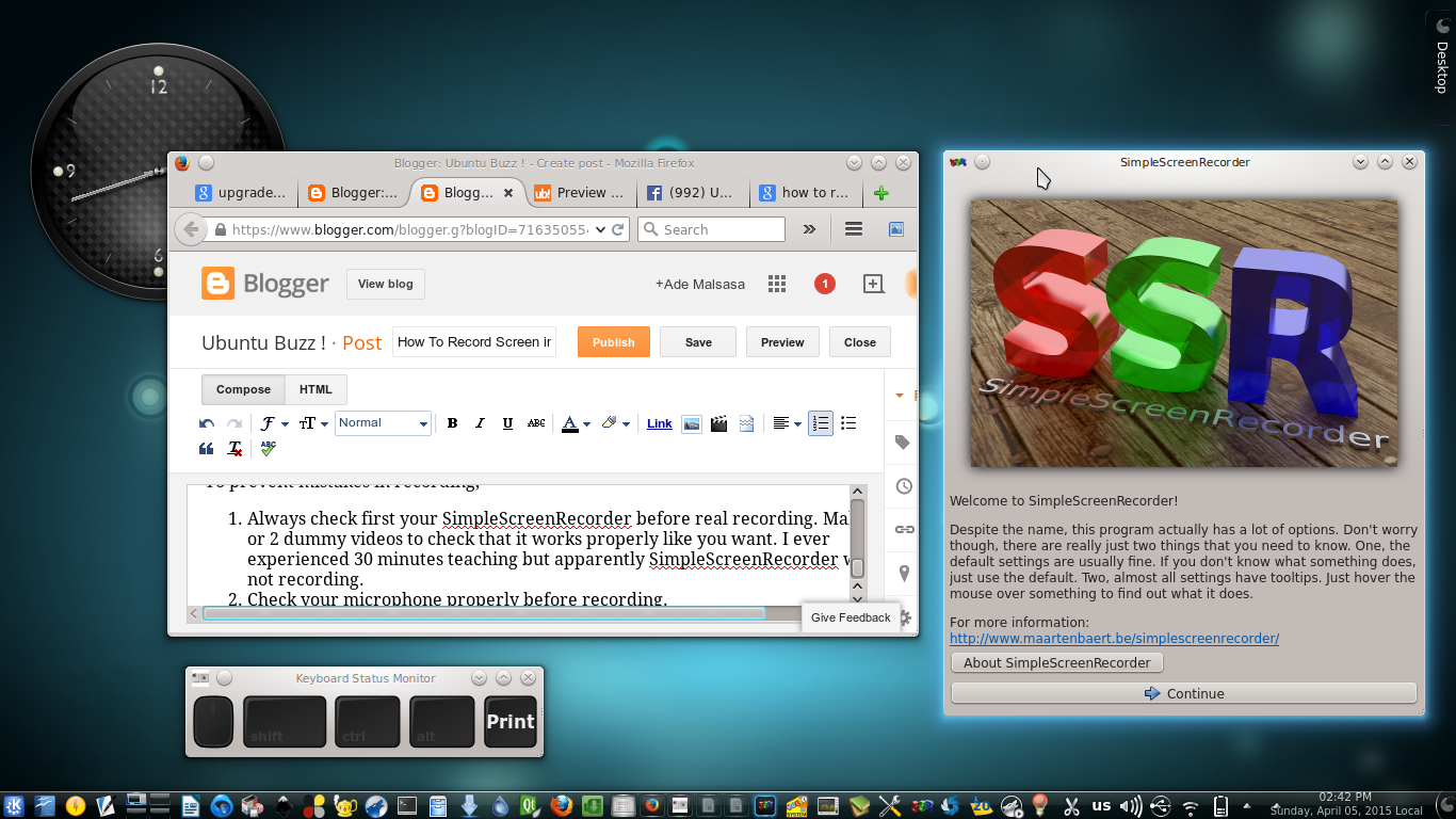 Ubuntu Buzz !: How To Record Screen in Linux With