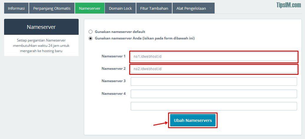 Cara Custom Domain Blogspot di IDwebhost
