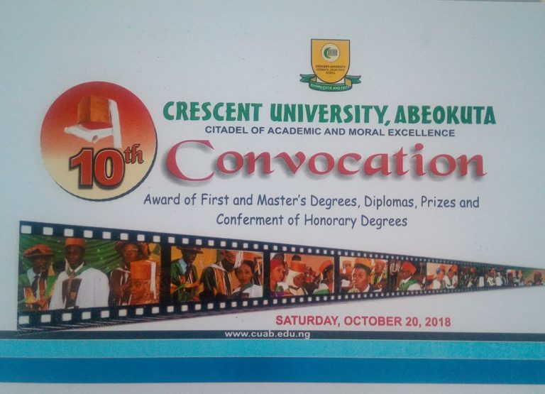 Check Crescent University 10th Convocation Ceremony Date Here